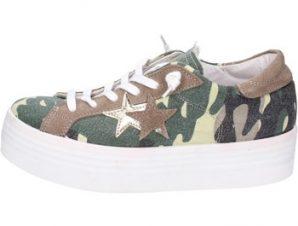 Xαμηλά Sneakers 2 Stars sneakers verde tessuto marrone camoscio ap710