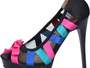 Γόβες Exé Shoes EXE' decolte multicolor raso ax44