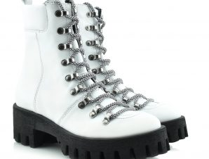 """ARIS TSOUBOS"" DESIGNER ANKLE BOOT – 20455 WHITE LEATHER"