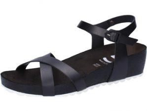 Σανδάλια 5 Pro Ject sandali nero pelle bianco AC700