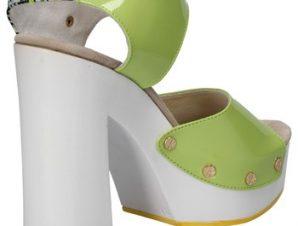 Σανδάλια Suky Brand sandali verde vernice tessuto AC811