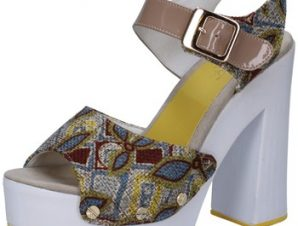 Σανδάλια Suky Brand sandali beige tessuto vernice AB308