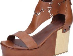 Σανδάλια Vic sandali marrone pelle BZ552
