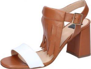 Σανδάλια Islo sandali marrone pelle bianco BZ332