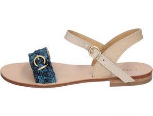 Σανδάλια Calpierre sandali blu pelle BZ838