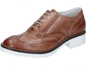 Oxfords Crown classiche marrone pelle BZ932
