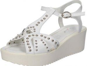 Σανδάλια Fascino Donna sandali bianco pelle borchie AE43