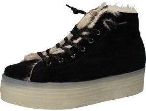 Sneakers 2 Stars sneakers nero velluto pelliccia AE614