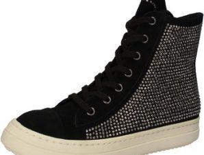Ψηλά Sneakers Twin Set TWIN-SET sneakers nero camoscio strass AE840