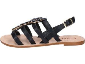 Σανδάλια E…vee sandali nero pelle BY184