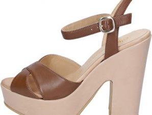Σανδάλια Olga Rubini sandali marrone pelle beige BY317