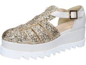 Σανδάλια Olga Rubini sandali platino glitter pelle BY337
