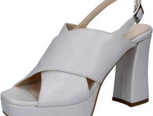 Σανδάλια Olga Rubini sandali grigio chiaro (color ghiaccio) pelle BY350