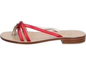 Σανδάλια Soleae sandali rosso pelle BY501