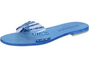 Σανδάλια Eddy Daniele sandali blu camoscio plastica swarovski aw491