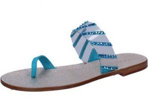 Σανδάλια Eddy Daniele sandali blu camoscio plastica swarovski aw487