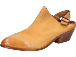 Σανδάλια Moma sabot sandali giallo pelle BX975