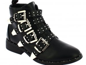 TOPWAY Γυναικείο Μποτάκι 13.B759880 Μαύρο – Μαύρο – B759880 BLACK-TOPWAY-black-36/4/1/81
