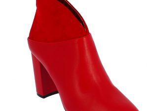 IQSHOES Γυναικείο Μποτάκι 18.104.Q1AX5610-5 Κόκκινο – Κόκκινο – 18.104.Q1AX5610-5 RED-IQSHOES-red-36/4/19/81