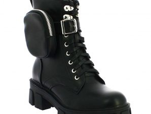 IQSHOES Γυναικείο Μποτάκι 92.5056 Μαύρο – Μαύρο – 92.5056 BLACK-IQSHOES-black-36/4/1/81